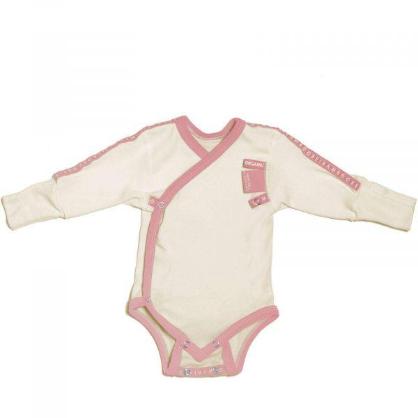 baby girl pink Baby Grow wraparound sensitive