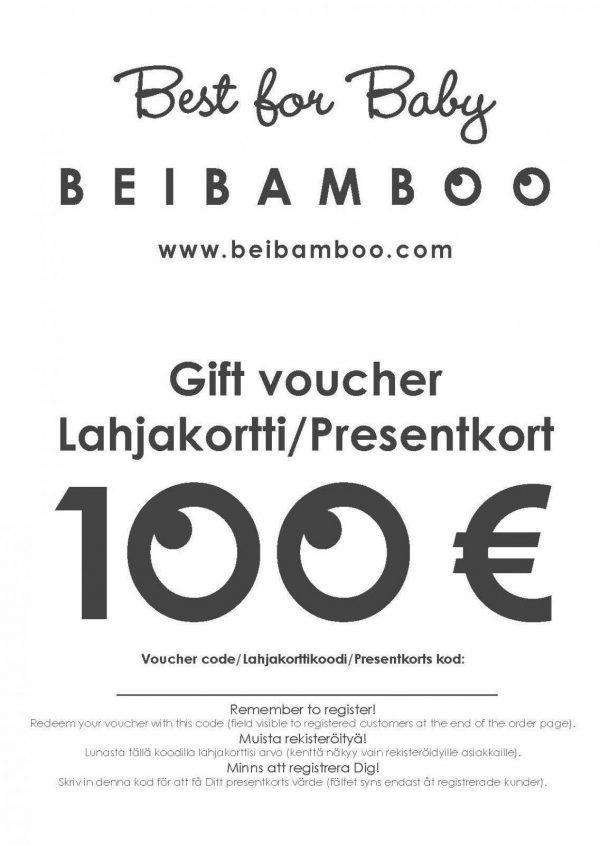 Beibamboo kids clothing gift voucher idea for newborn baby family