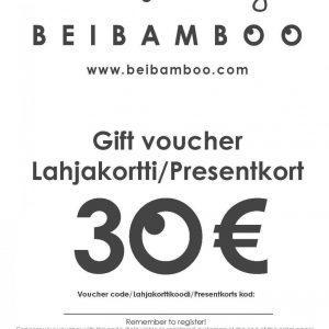 Beibamboo 2015 30 € Gift Voucher