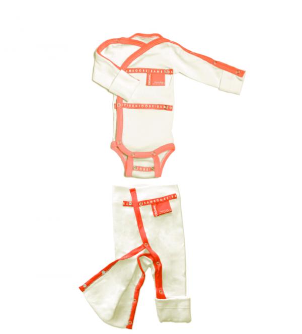 orange red clothing set for child baby children premature premmie premie