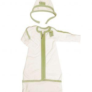 green baby clothing gift for pregnant sleep-pod bonnet cap hat