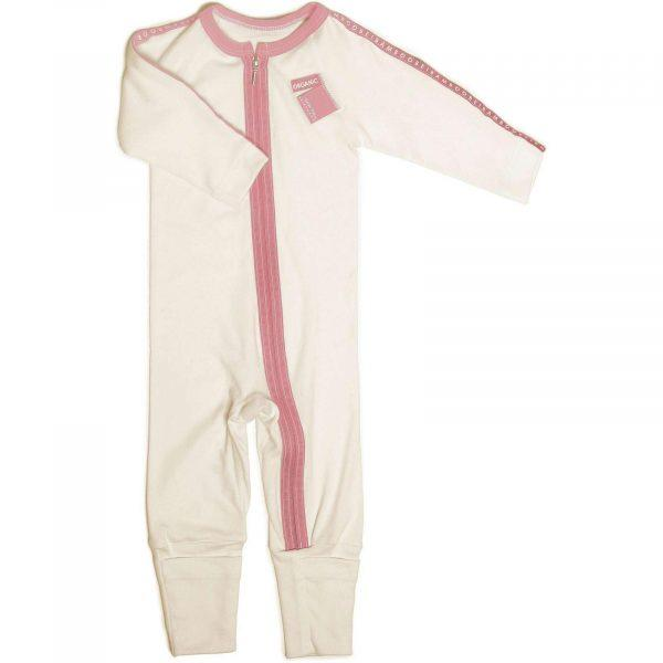 Zip All-In-One onesie for babygirl hypoallergic