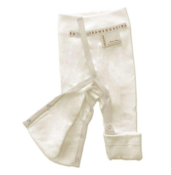 white Baby Trousers - fully opening